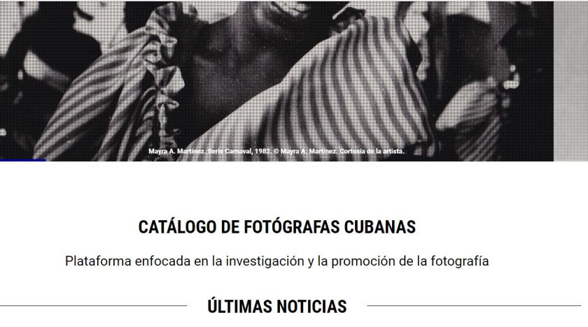 Catálogo de Fotógrafas Cubanas, por Aldeide Delgado (Detalle).