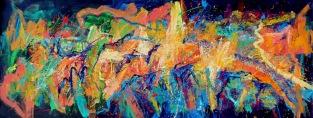Gerson Corzo - MONTAÑAS DEL CHICAMOCHA - Mixta sobre tela - 66 x 180 cms - 2014